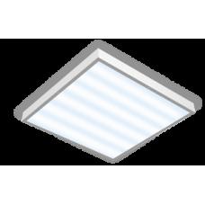 """Аварийный офисный светодиодный светильник """"ВАРТОН"""" 595*595*50 54Вт с призматическим рассеивателем для помещений с высокими потолками"""